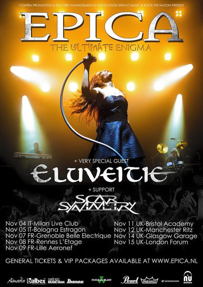 Eluveitie Epica Tour