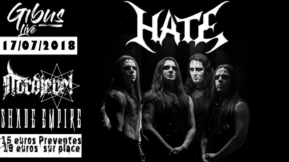 Hate / Shad Empire / Nordjevel – Paris