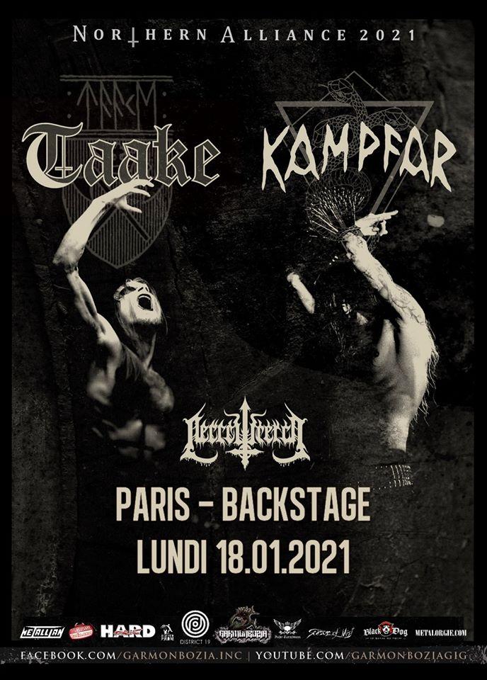 Taake / Kampfar / Necrowretch // Paris
