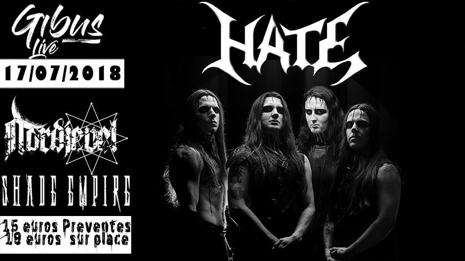 Hate / Shad Empire / Nordjevel – Paris
