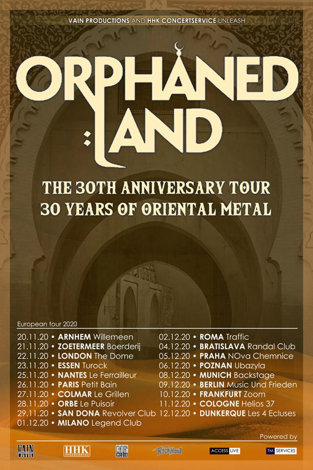 Orphaned Land – The 30th Anniversary Tour / 30 Years of Oriental Metal